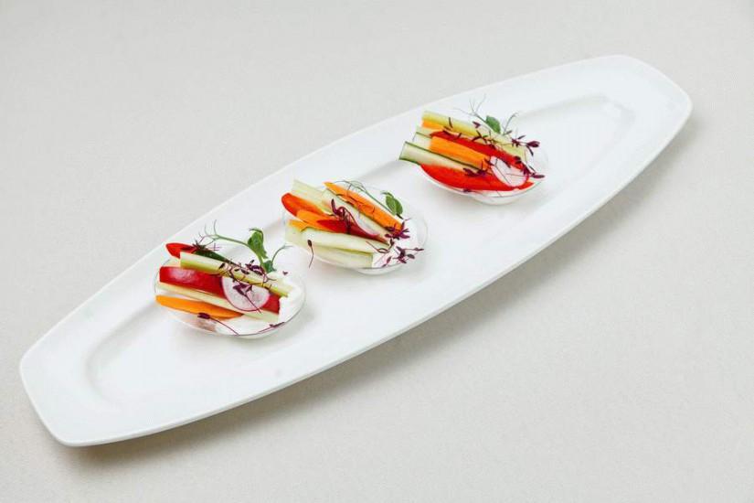 Овощи в соусе из сыра Бри 60г