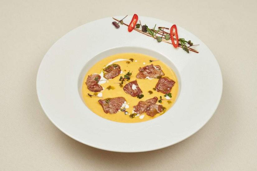 Крем-суп из тыквы с утиной грудкой 300г