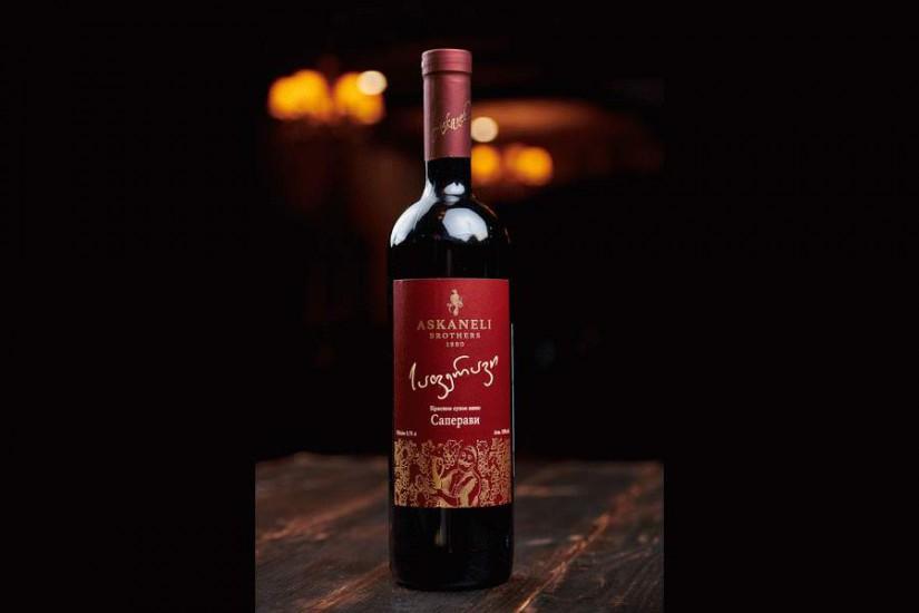 Вино Саперави Асканели красное сухое 0,75л