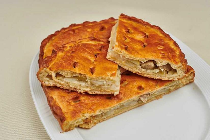 Пирог из картофеля и свинины 1кг