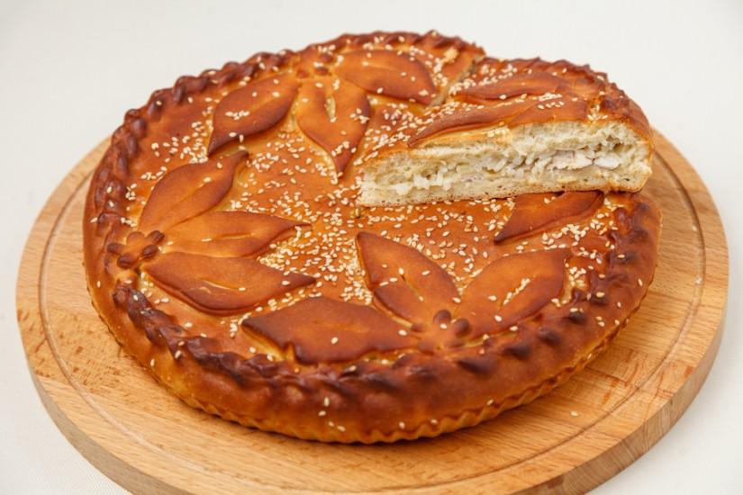 Пирог Курник с рисом 1кг