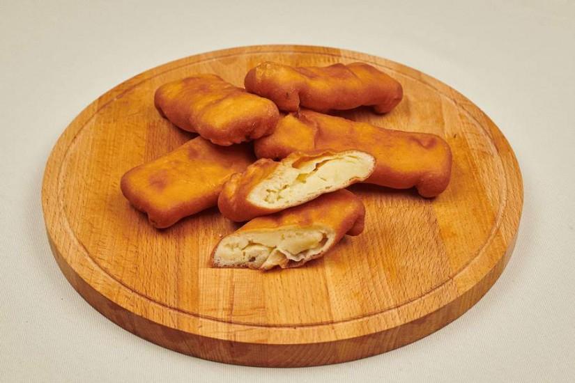 Пирожок жареный во фритюре с картофелем 80г